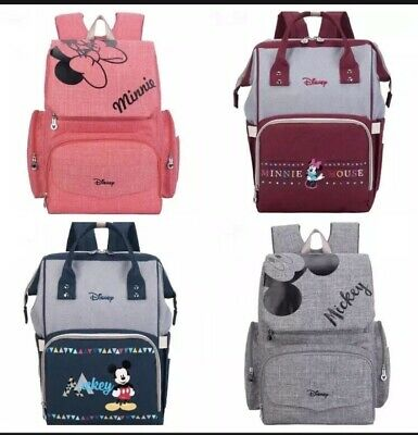 Disney Mickey Minnie Mouse Diaper Bags Mummy Maternity Nappy Backpack For Baby