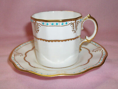 Lovely! Royal Crown Derby LOMBARDY Demitasse Cup & Saucer England China