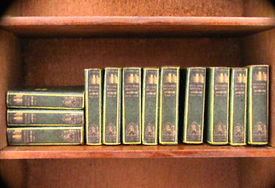 12 ENCYCLOPEDIA BOOKS Miniature Dollhouse 1:12 Scale Prop Books Reference