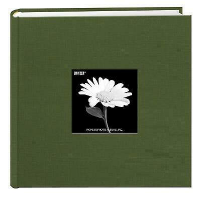 Pioneer Fabric Frame Cover Photo Album 200 Pockets Hold 4x6 Photos, Herbal Green