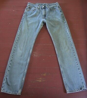 562180500bc VINTAGE LEVI STRAUSS & Co. 501 Blue Jeans W 30 L 34 Button Fly Red ...