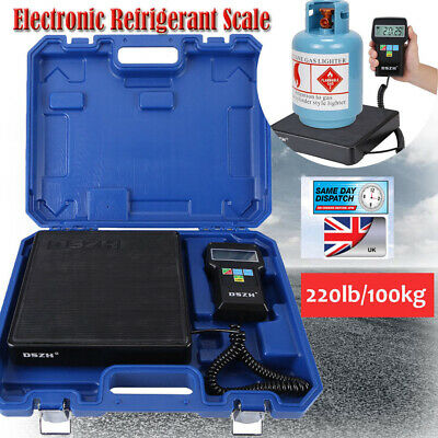 Digital Electronic Refrigerant Scale Charging Weight HVAC REFRIGERATION 220lbs