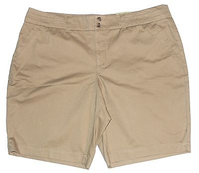 Sonoma Khaki Beige Original Fit Walking Shorts Slimming Panel Womans 24W NEW $34