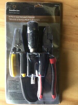 Southwire Electrician's Tool Kit Handy Pouch Screwdriver Pliers Wire Stripper