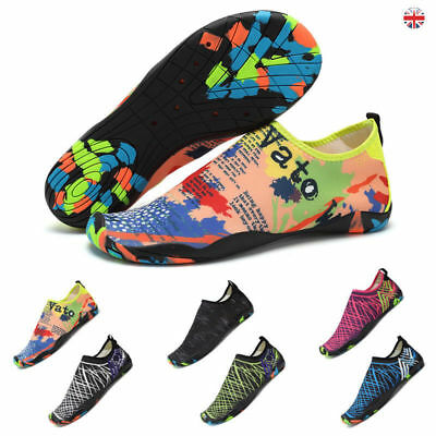 b48296ee3c8 Mens Womens Water Shoes Aqua Shoes Beach Wet Wetsuit Shoes Swim Surf Shoes  UK *