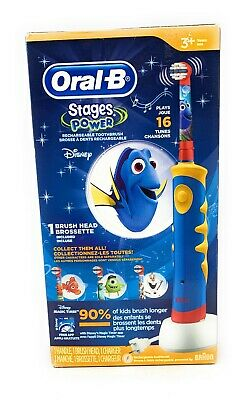 FINDING DORY Kids Toothbrush Oral-B  Electric Rechargeable Stages Power Braun