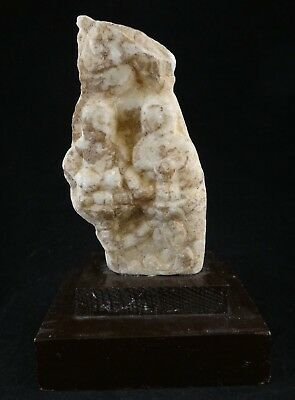 """Chinese Tang Dyn. carved Marble Stele w/2 seated Buddha's. 7th/8th c.  6 7/8"""" t"""
