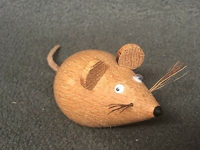 Wooden Animals, Solid English Oak Hand Turned Wooden Animals, MOUSE.