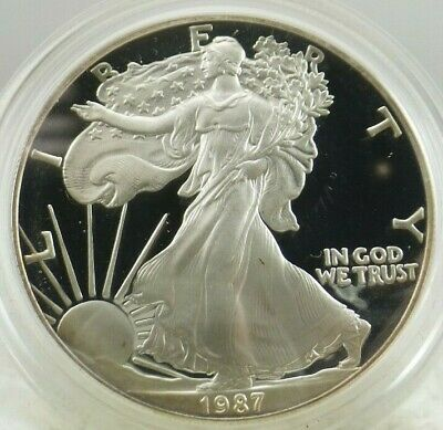 1987 S Walking Liberty/American Eagle PROOF One Dollar Coin .999 Fine 1 Troy Oz
