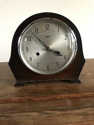 Vintage Smiths Mantle Clock. 7 Day Chiming 1940s Smiths Enfield, Art Deco Era .