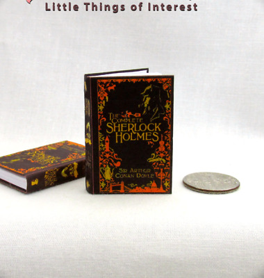 THE COMPLETE SHERLOCK HOLMES 1:6 Scale Book Readable Illustrated Detective Book