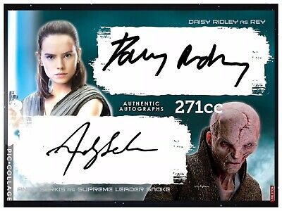 Topps Star Wars Card Trader - TLJ Signature Selects Rey / DAISY Snoke *Digital