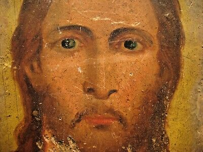 19th century Antique Russian Orthodox Icon Jesus Christ