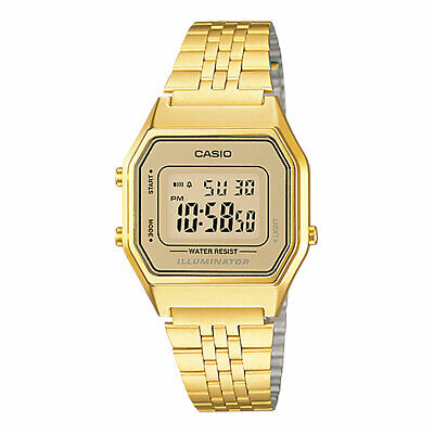 Casio LA680WGA-9 Vintage Retro Digital Watch Gold