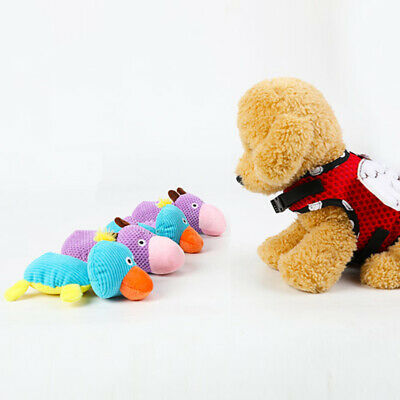 Interactive Pet Puppy Animal Shape Chew Play Sound Squeaker Dog Plush Toy Tooth