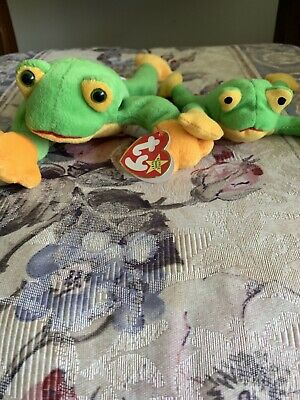 6be9108390f Rare Retired Ty Smoochy the Frog Beanie Baby DOB October 1