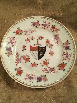 Antique Samson Porcelain Chinese Export Style Armorial Plate