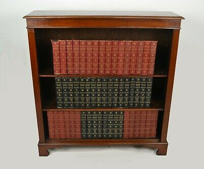 Antique / Victorian Mahogany Open Bookcase Circa 1890