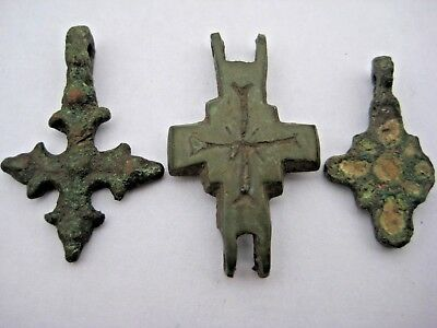 ANCIENT CROSS ENCOLPION Viking Kievan Rus 10-12 century AD