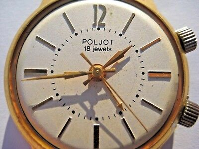 Poljot Signal watch Alarm SOVIET RUSSIAN USSR 18 jewels