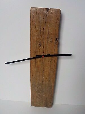 Stunning Designer Wall Clock Made in an Antique piece of Solid English Oak