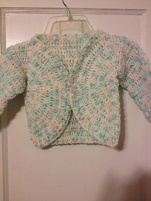 Crocheted toddler multi-color sweater