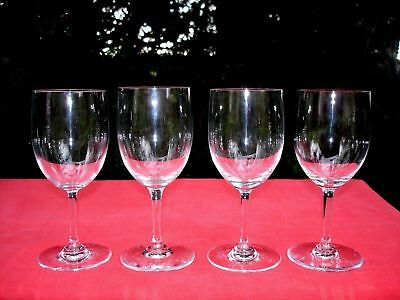 Baccarat Perfection 4 Wine Water Crystal Glasses Verres A Vin A Eau Cristal Unis