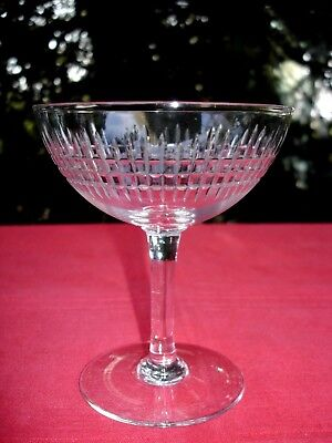 Baccarat Nancy Tall Sherbet Crystal Glass Coupe A Champagne Cristal Taillé