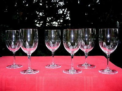 Baccarat Perfection 6 Wine Crystal Glasses Weingläser Verres A Vin Cristal Unis