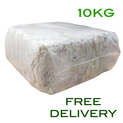 10Kg Bag of Rags White Terry Towel Wiper Engineers Garage Wiping Polishing cloth