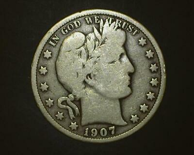 1907 Barber Half-Dollar   Very Good    ~393390-Lb6Ra15