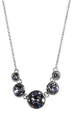 4bc661a8e3 Swarovski Elements Crystal Brilliance Dots Pendant Necklace Rhodium Plated  7261u