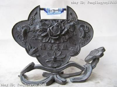 """Chinese superb Pure bronze Copper Carved restfully rich """"RuYi"""""""