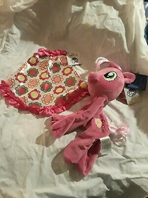 Build-A-Bear My Little Pony PINK Cheerilee CHEERILEE Unstuffed With HER Cape Nwt