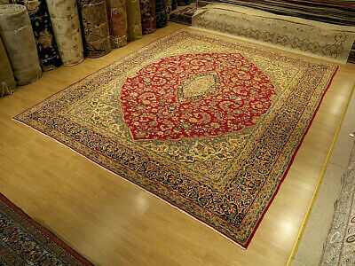 11 x 13 Handmade Fine Quality Antique Persian Lavar Wool Rug_Great Condition
