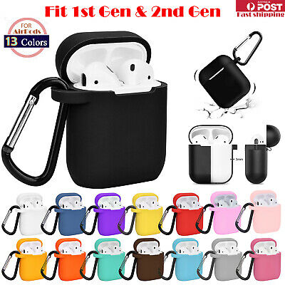 For Apple Airpods 1 & 2 Shockproof Silicon slim Skin Charging case Rubber Cover