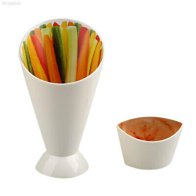 FCEB Convenient Snack Stand Serve Holder Fries Chips Finger Food Sauce