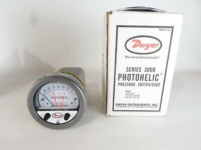 New Dwyer Series 3000 Photohelic Pressure Switch Gage A3002