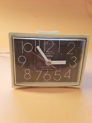 Vintage Timex Alarm Clock~ Model 7437-4 ~Electric W/Snooze~ Rare Brown Face~Usa