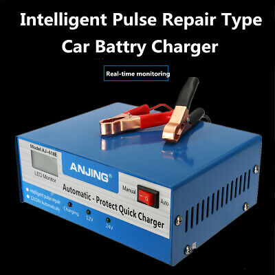 Car Battery Charger Pulse Repair 12V 24V 200AH Automatic Intelligent Lead Acid