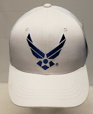 9b0c913cfc3 White United States USAF Air Force Wing Cotton Trucker Military Baseball Cap  Hat