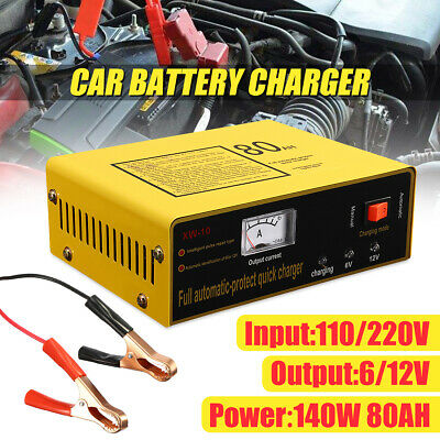 Vehicle Car Battery Charger 6V 12V Full Automatic Intelligent Negetive Pulse