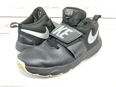 76a7fc49a62 Nike Team Hustle D8 Black Silver 881941-001 Basketball Shoes Youth Size 6Y