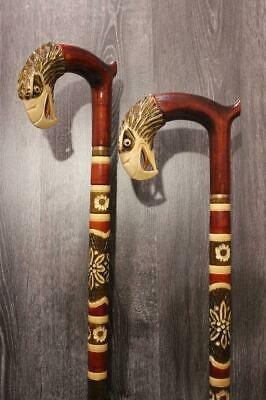 Eagle Wooden Cane Walking Stick Support Canes Handle Handmade Hand Carved New