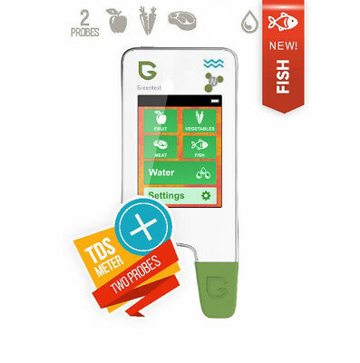 GREENTEST 3F 2-in-1 NEW High Accuracy Food, Meat, Fish Nitrate Tester, water TDS