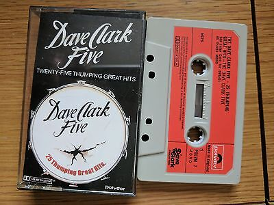 Cassette Dave Clark Five  25 Thumping Great Hits  Paper  Labels