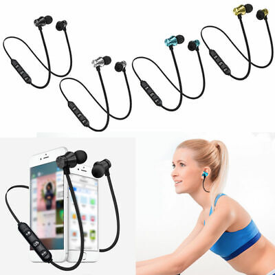 Bluetooth Ver4.2 Stereo Earphone Headset Wireless Magnetic Earbud For All Phone