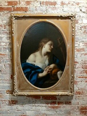 "Italian Old Master ""Penitent Magdalene"" 18th century Oil painting"