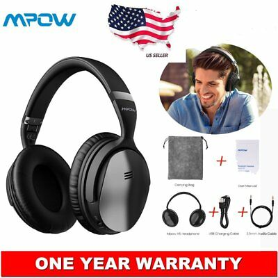 Mpow Wireless Noise Cancelling Bluetooth Over Ear Headphones H5 headset Foldable