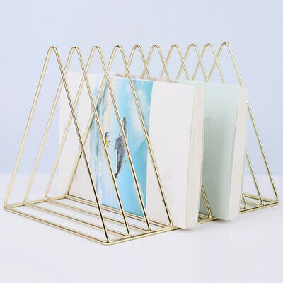 Metal Desk Book Holder Modern Minimalist Bookshelf for Home Office